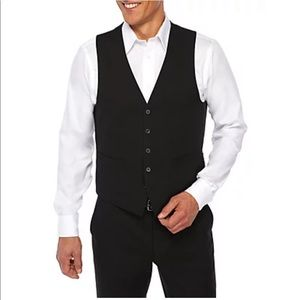 NWT KENNETH COLE Black Suiting Technicole Vest Separate